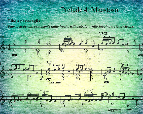 Prelude #4: Maestoso---Like a Passacaglia