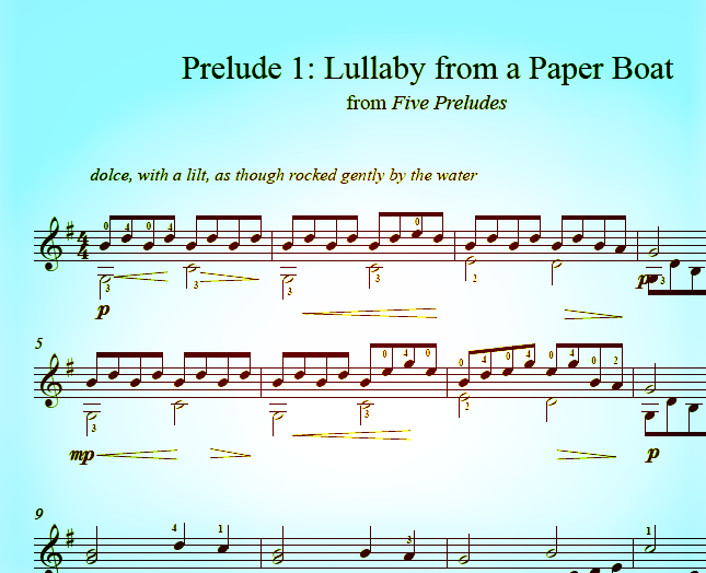Prelude #1: Lullaby from a Paper Boat