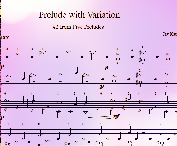Prelude #2 with Variation
