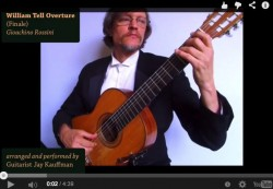 William Tell Overture Arranged for Classical Guitar (Full Finale) thumbnail