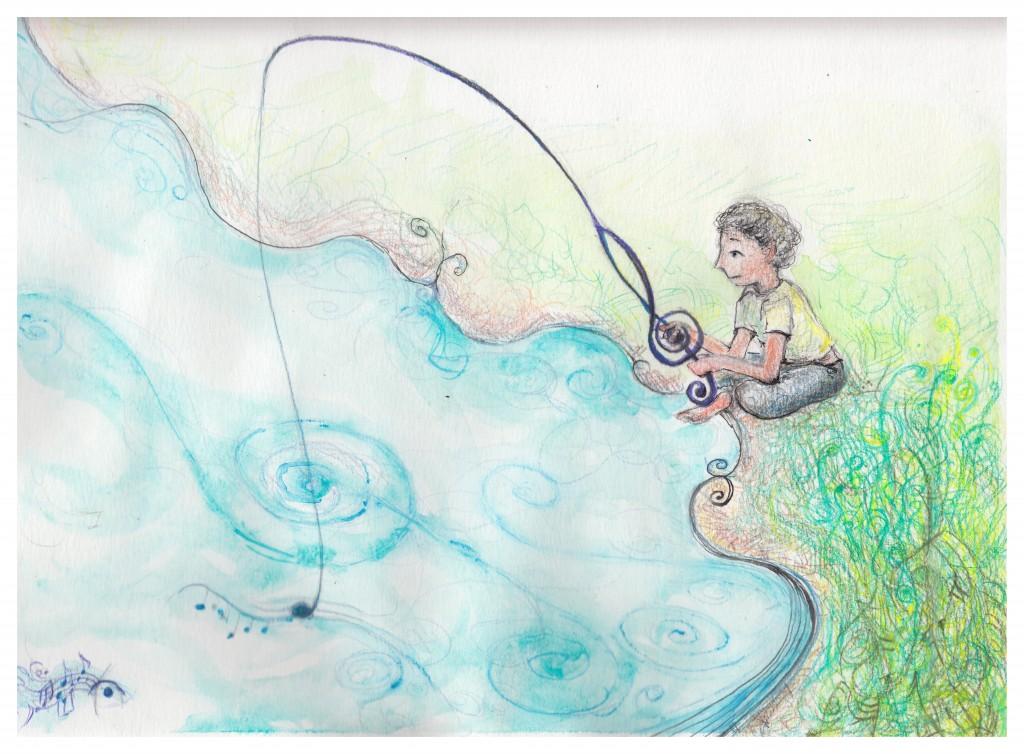 Melody Fishing version 2 whiteframe